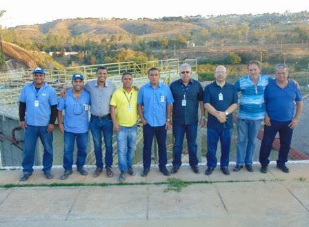 Vereadores visitam Obras de Estação de Tratamento de Esgoto da Copasa.