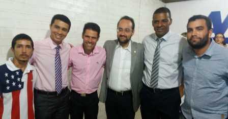"""Vereador Edson Fernandes dos Santos """"Mandela"""" esteve presente na eleição e posse da nova Direção da AMUC nesta terça-feira (17)."""