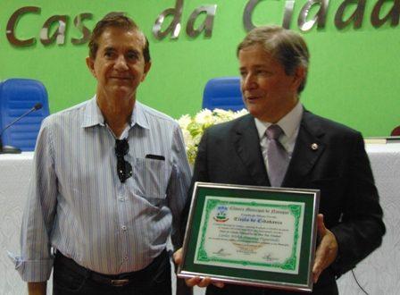 Carlos Pimenta e o ex-prefeito Antônio Lozi