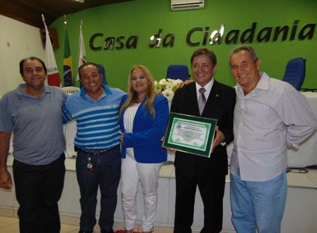 Carlos Pimente, Nininha , ex-vereeador Luiz Macário, Dr. Rubem e Jerry Macário